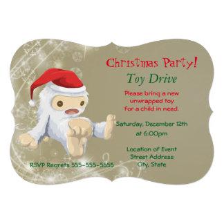 Movimentação do brinquedo da festa de Natal com o Convite 12.27 X 17.78cm