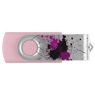 Movimentação do flash do giro de USB do respingo Pen Drive Giratório