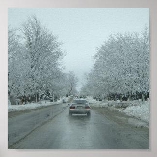 Movimentação do inverno pôsteres