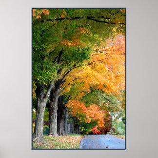 Movimentação do outono poster