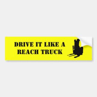 Movimentação gosta de um caminhão do alcance adesivo para carro