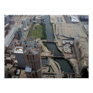 Movimentação sul de 311 Wacker Chicago Poster
