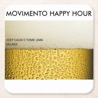 Movimento Happy Hour Square Paper Coaster