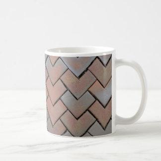 mozaics mozaic do amor do marrom da caneca de café