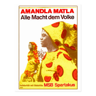 MSB África do Sul 1977 Cartão Postal