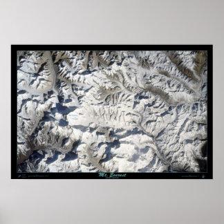 Mt Everest do poster do satélite do vaivém espacia