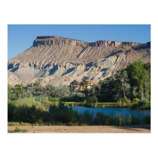 Mt. Garfield no Palisade, Colorado Cartao Postal