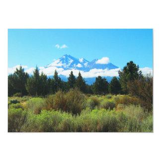 Mt Shasta, Califórnia Convite 12.7 X 17.78cm