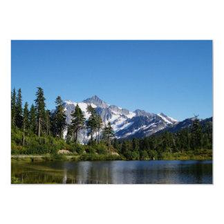 Mt Shuksan do lago picture Convite Personalizado