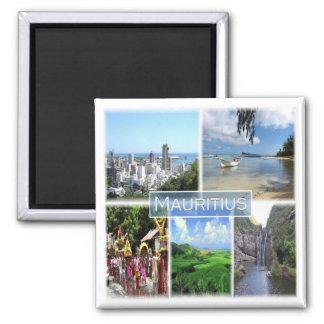 MU * Maurícia - Port Louis Ímã Quadrado