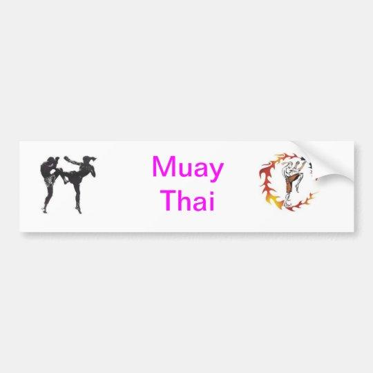 Muay Thai Adesivo Para Carro