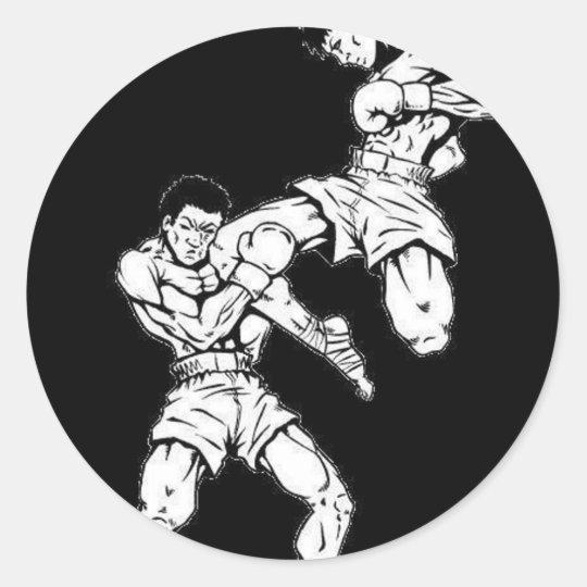 Muay Thai Adesivo Redondo