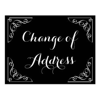 Mudança à moda do cartão da caligrafia de endereço cartão postal