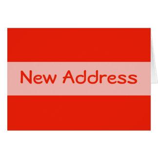 mudança alaranjada do endereço cartão