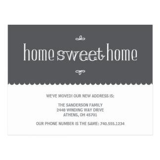 Mudança bonito do anúncio de endereço cartão postal