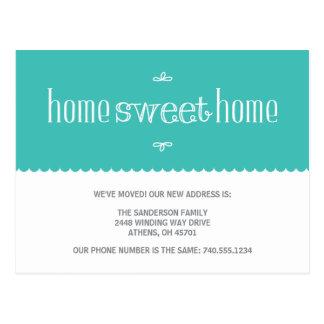 Mudança bonito do anúncio de endereço cartões postais