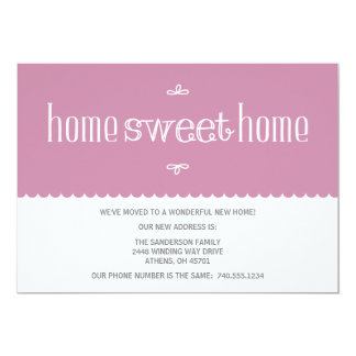 Mudança bonito do anúncio de endereço convites personalizado