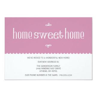 Mudança bonito do anúncio de endereço convite 12.7 x 17.78cm