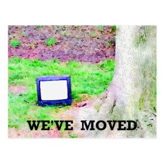 Mudança da árvore | da televisão de endereço velha cartão postal