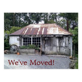 Mudança da casa de campo velha de endereço cartoes postais