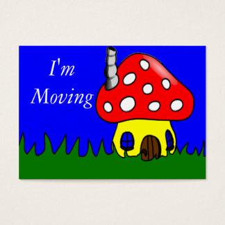 Mudança da casa do cogumelo do cartão de endereço