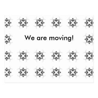 Mudança da flor de endereço preto e branco retro cartões postais