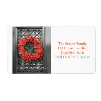 Mudança da grinalda do Natal de endereço Etiqueta De Frete