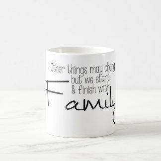Mudança das coisas mas CANECA da família