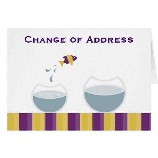 Mudança de endereço cartoes