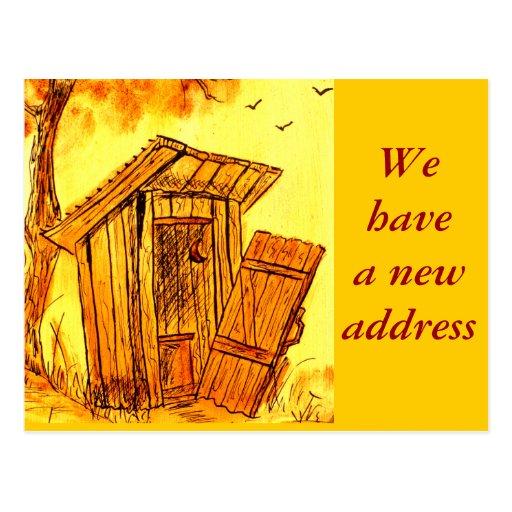 Mudança de endereço - cartão cartao postal