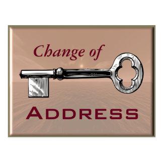 Mudança de endereço - cartão cartão postal
