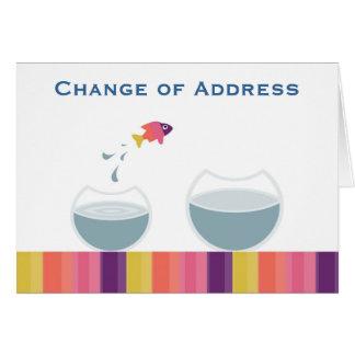 Mudança de endereço cartão comemorativo
