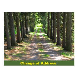 Mudança de endereço - cartão da notificação cartão postal