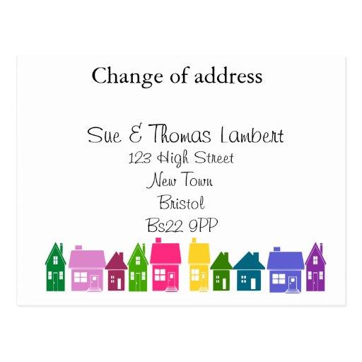Mudança de endereço cartões postais