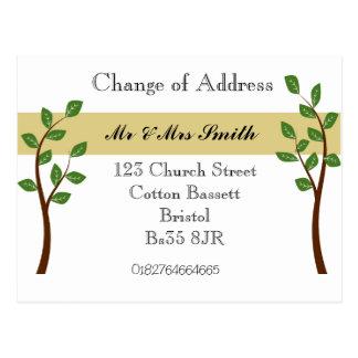Mudança de endereço cartoes postais