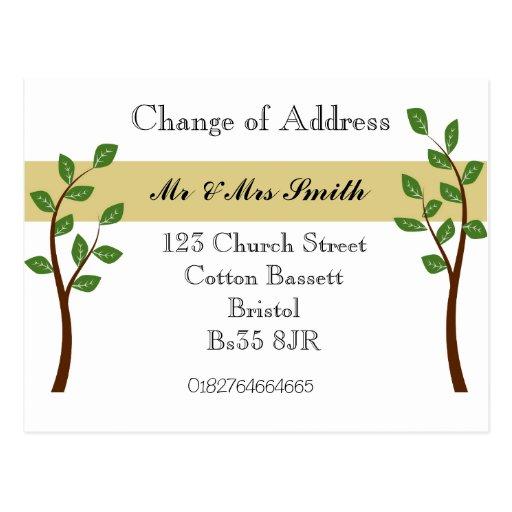 Mudança de endereço cartao postal