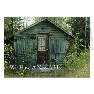 Mudança de endereço: Casa da floresta Cartão Comemorativo