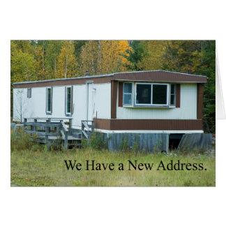 Mudança de endereço: Casa de Mobil Cartão Comemorativo