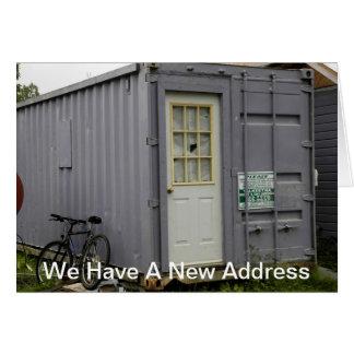 Mudança de endereço: Casa do reboque Cartão Comemorativo