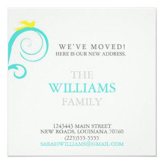 Mudança de endereço convite quadrado 13.35 x 13.35cm