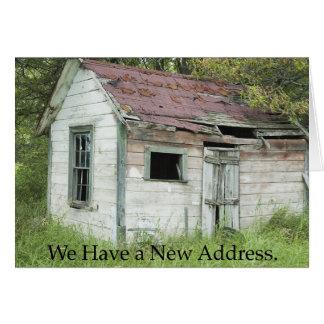 Mudança de endereço: Grande lugar Cartoes