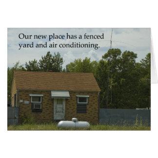 Mudança de endereço: Jarda cercada Cartão Comemorativo