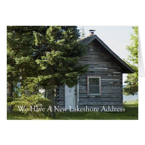 Mudança de endereço: Lakeshore endereço Cartao