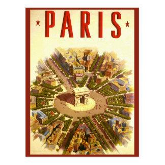 Mudança de endereço, Paris do vintage, Arco do Cartão Postal