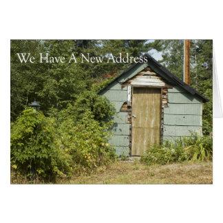 Mudança de endereço: Porta das necessidades Cartão Comemorativo