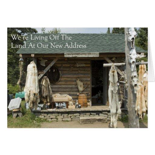 Mudança de endereço: Vida fora da terra Cartão