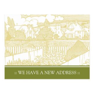 Mudança de Nouveau da arte do cartão de endereço Cartão Postal