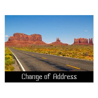 Mudança do cartão da notificação de endereço cartão postal