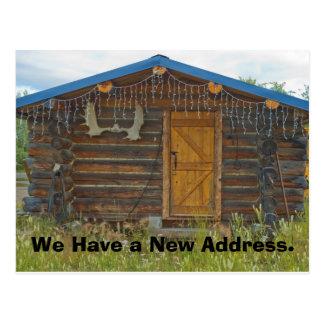 Mudança do cartão de endereço: Cabine da montanha