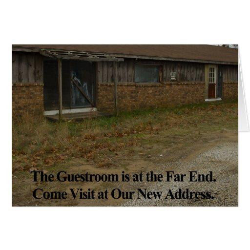 Mudança do cartão de endereço: Guestroom